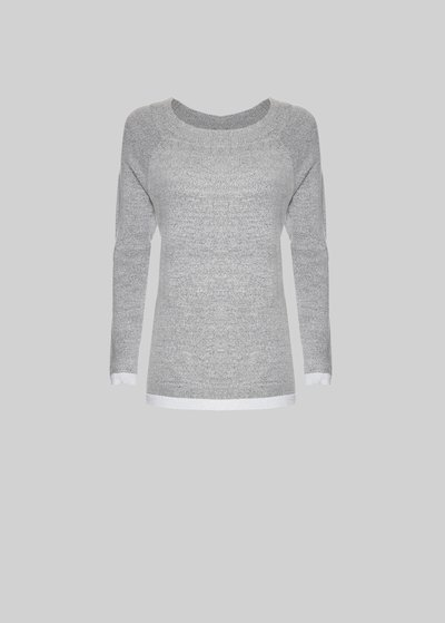 Magda sweater with boat neckline and lurex detail