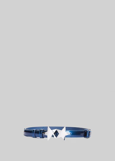 Carva belt in painted eco-leather with star closure