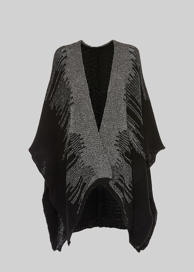 Milla knitted cape with lurex detail