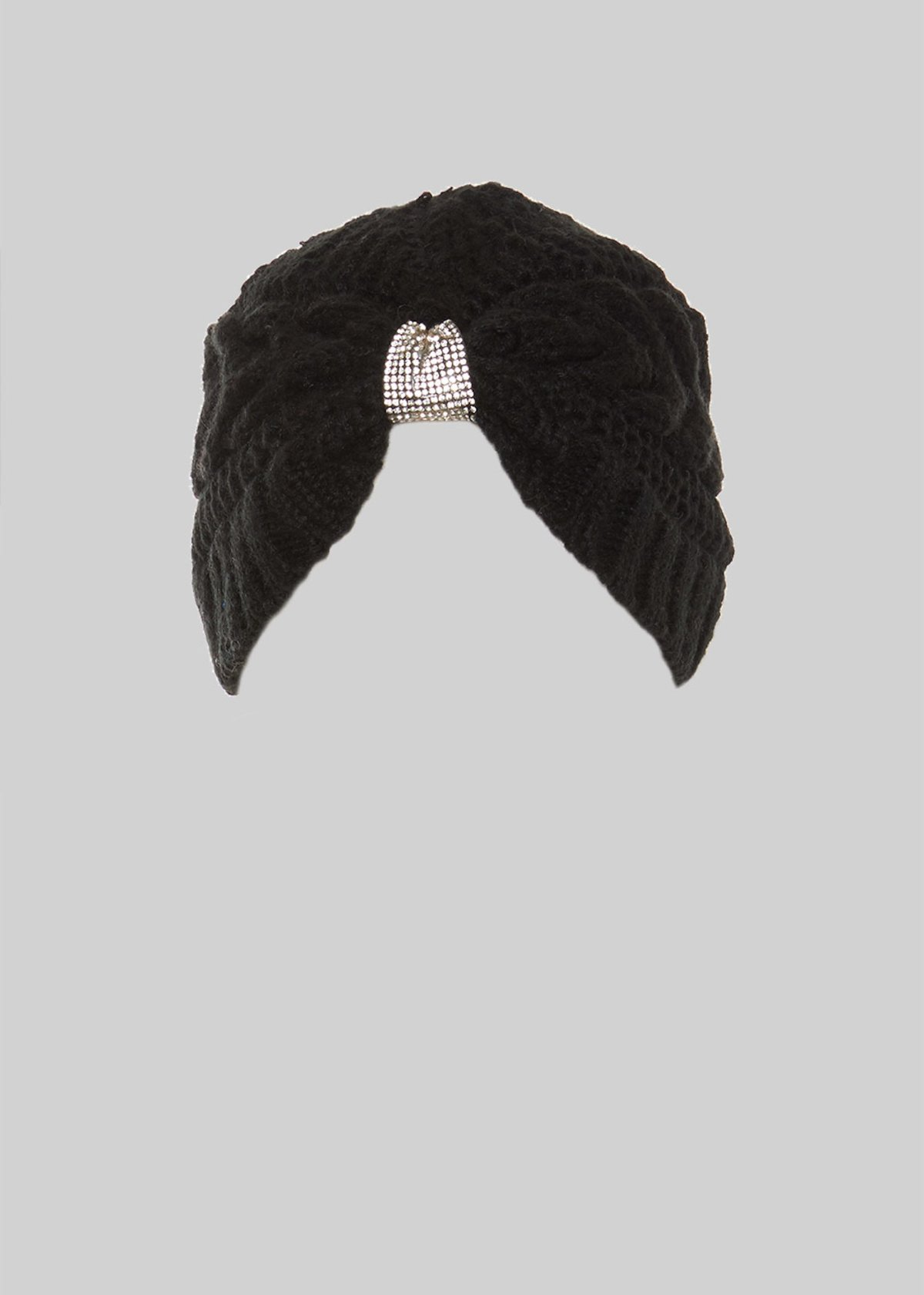 Calida knit turban with crystal detail