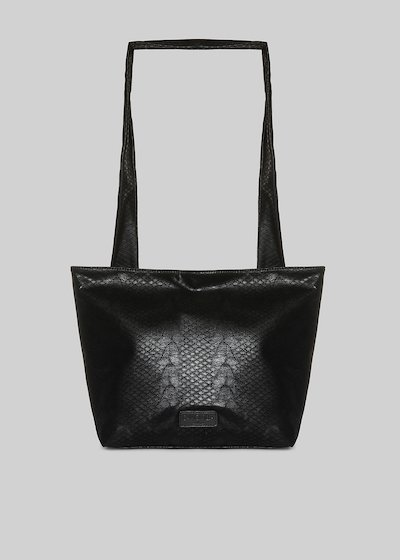 Python effect Bibla handbag with removable shoulder strap