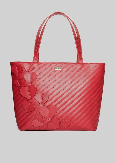 Baika shopping bag with applied hearts