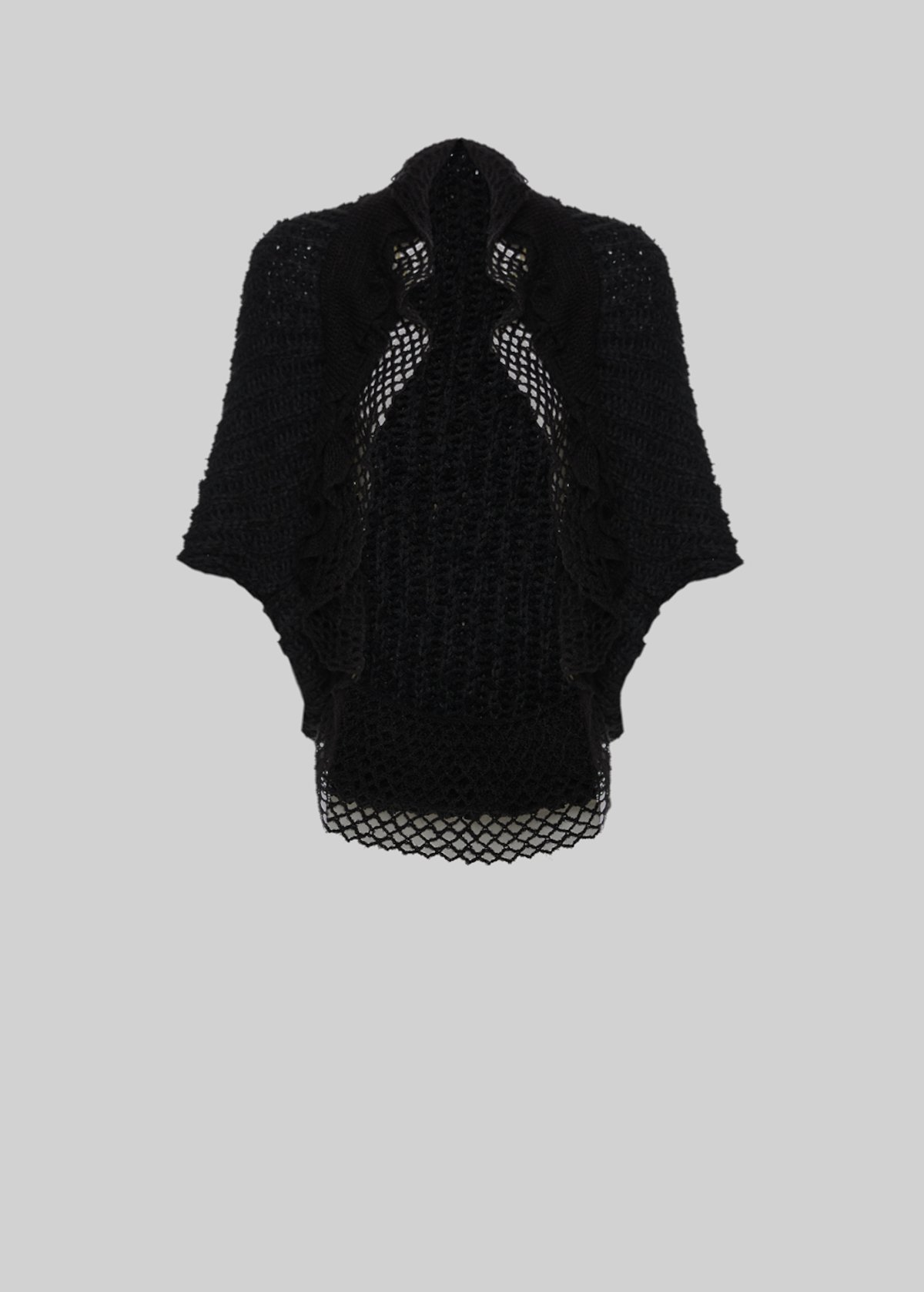 Clelia knit shrug with ruffles detail - Black - Woman - Category image