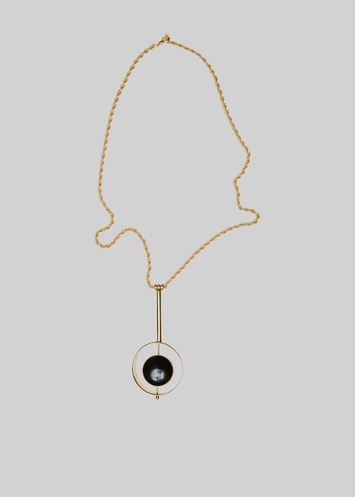 Collana Creamy metallica con dettaglio round circle