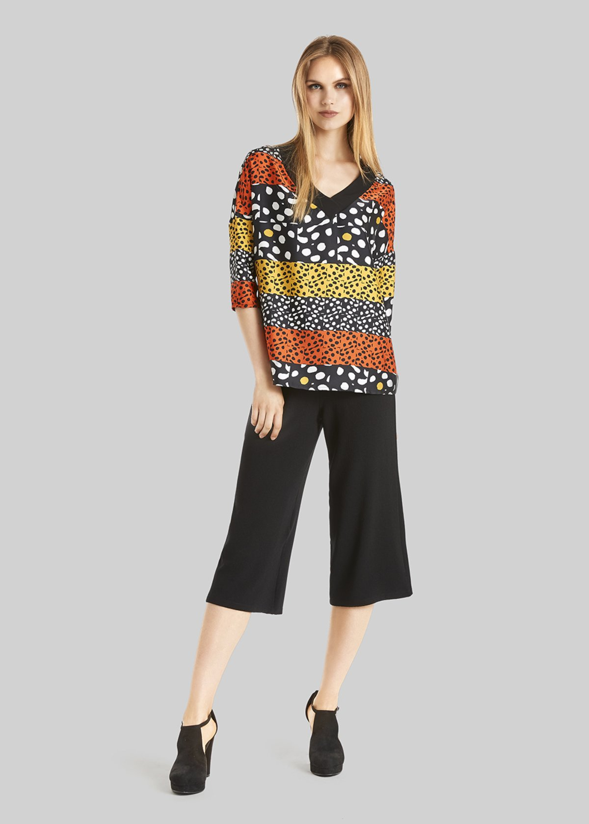 Primo short palazzo trousers - Black - Woman - Category image