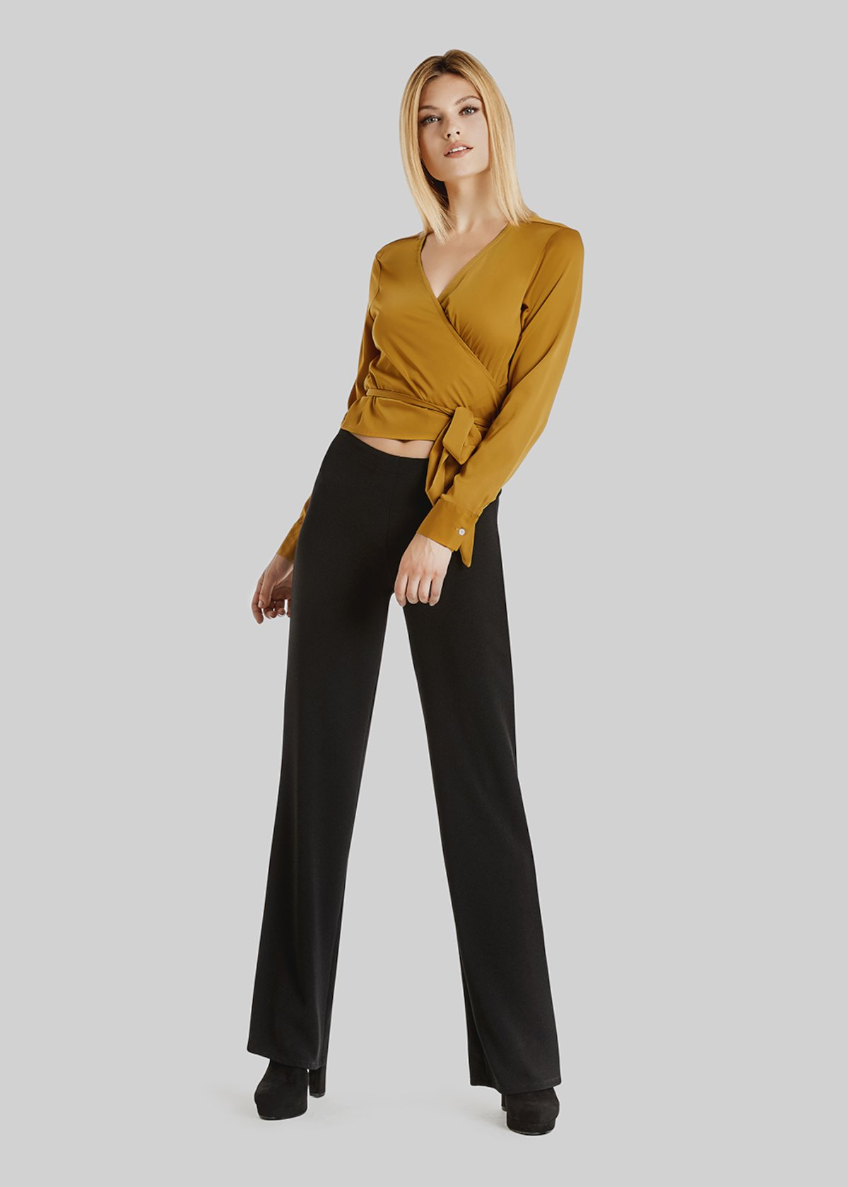 Paloma crepe palazzo trousers - Black - Woman - Category image