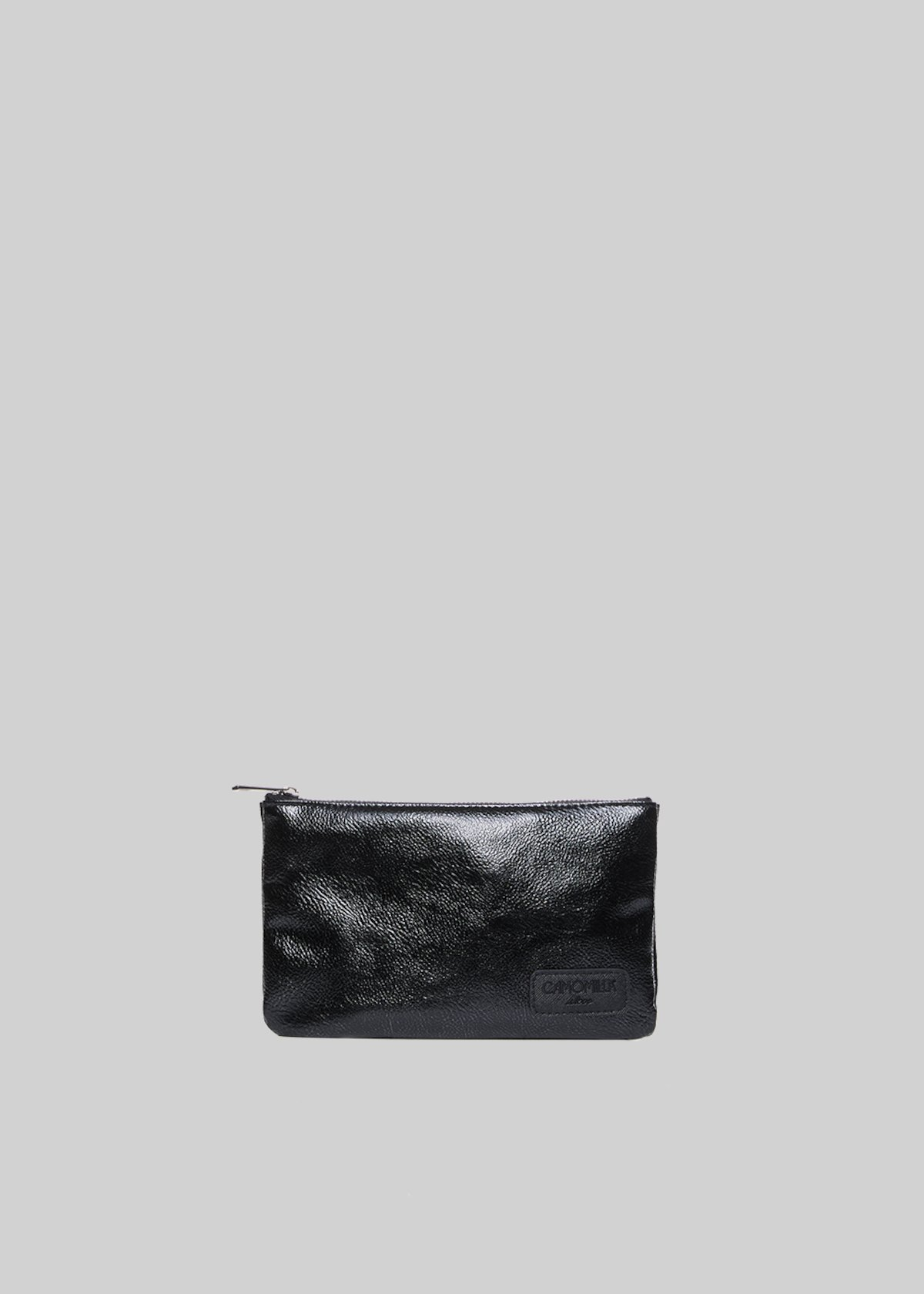 Tongameta clutch bag in metal faux leather with shoulder strap
