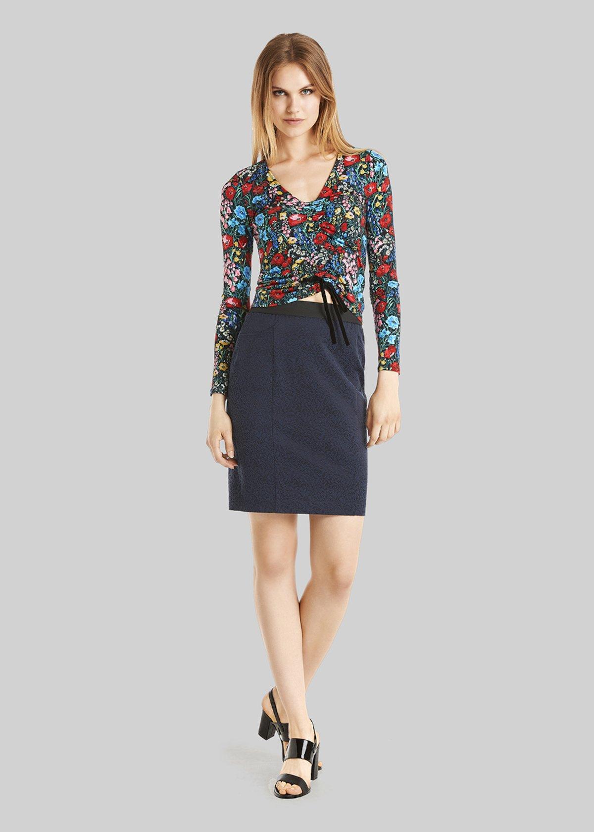 Germana skirt jeggings with shirred elastic