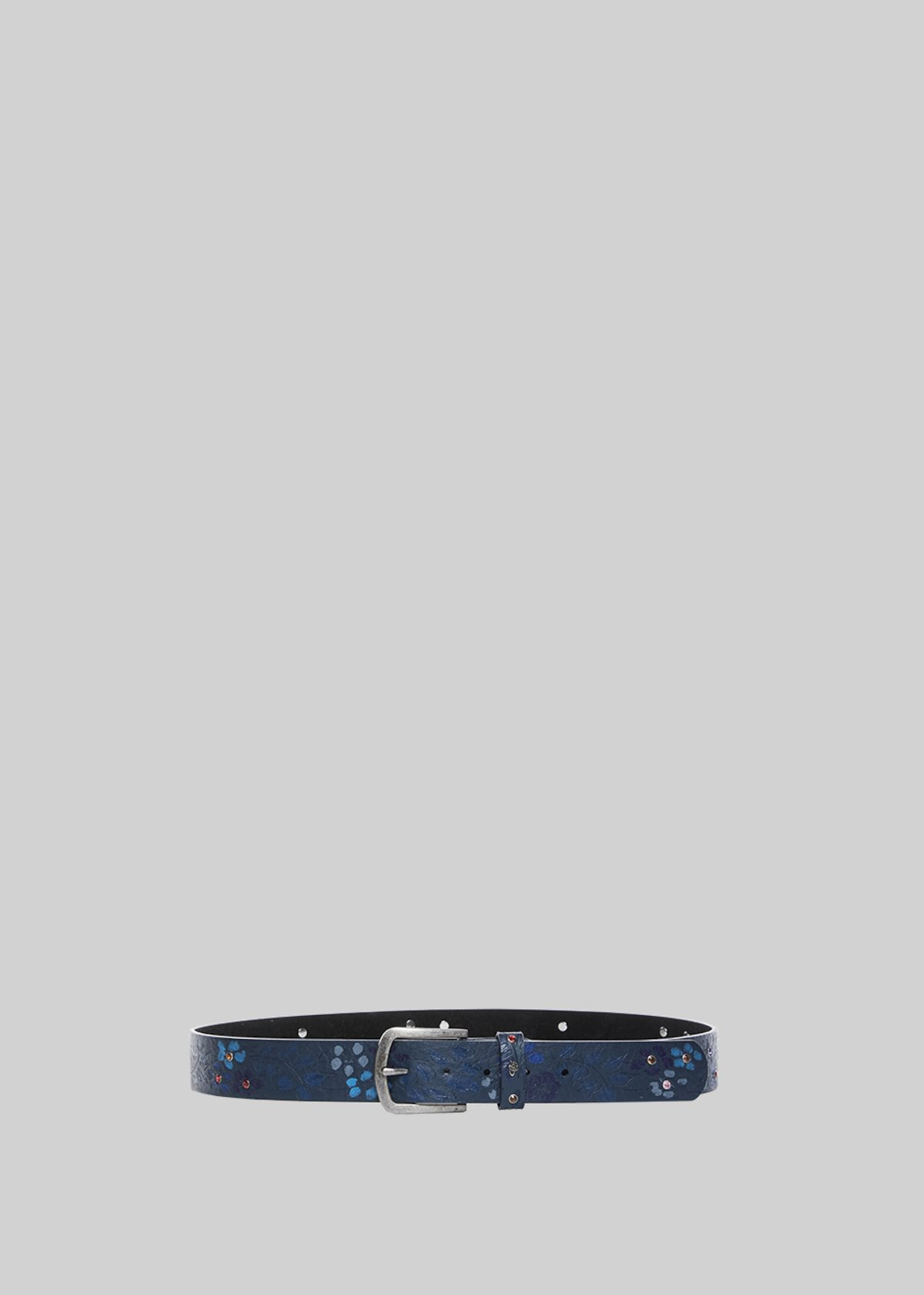 Codie fantasy flower and rhinestones belt - Medium Blue
