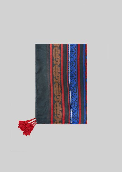Scarf Semmy ethnic pattern with tassels