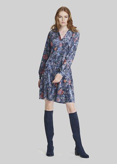 Arley Floral velvet dress