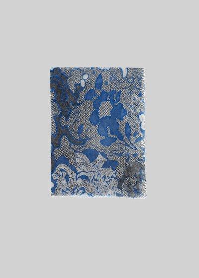 Sciarpa Silvy in lana con stampa floreale