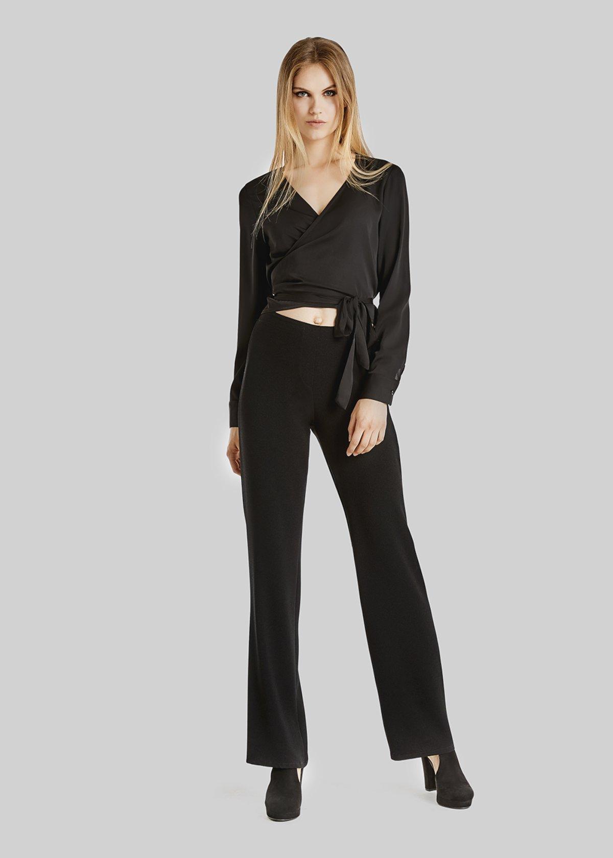 Stefania kimono model t-shirt - Black