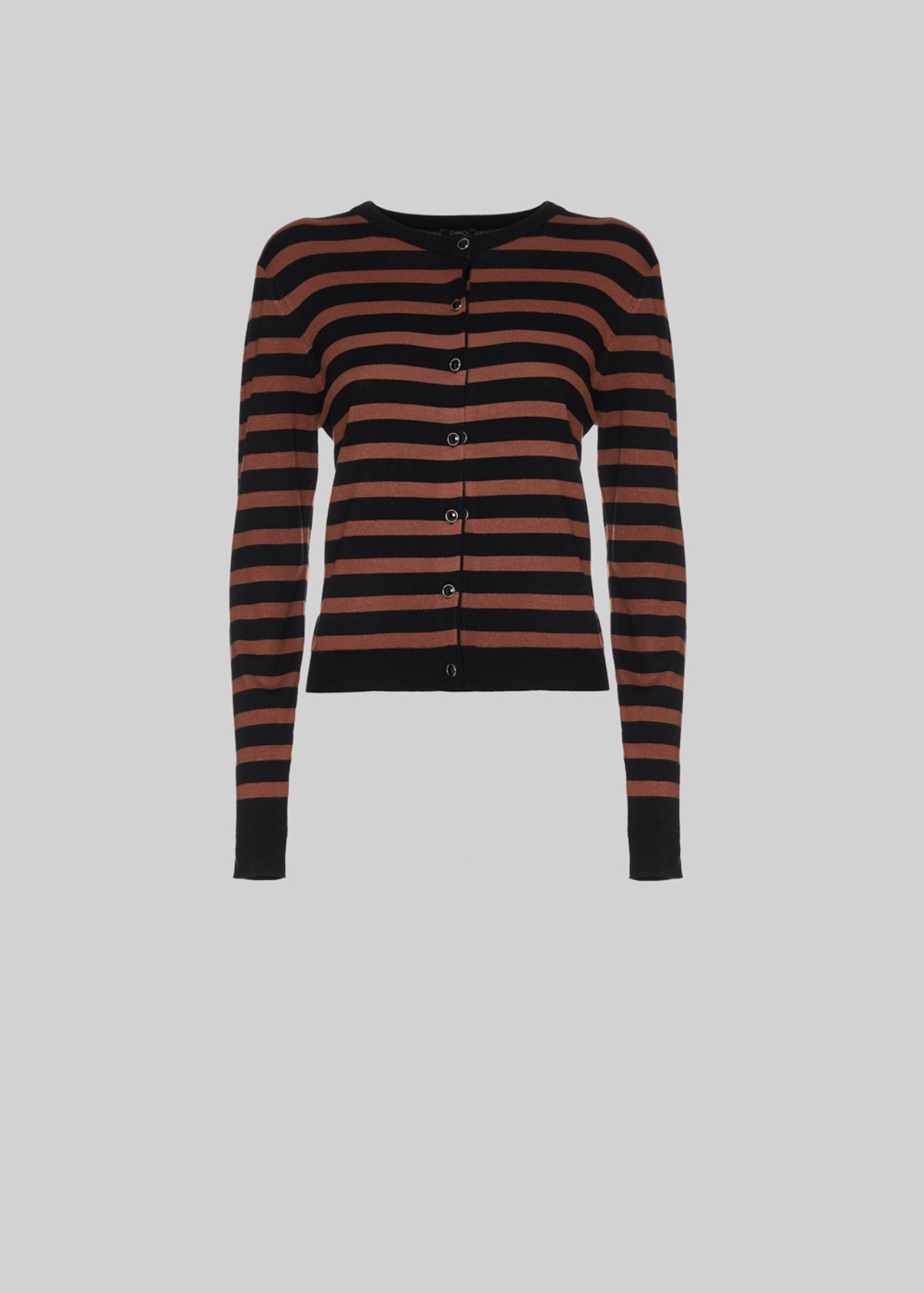 Cardigan Charl con chiusura a bottoncini - Black / Land Stripes - Donna - Immagine categoria