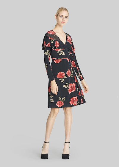 Annie jersey dress roses fantasy