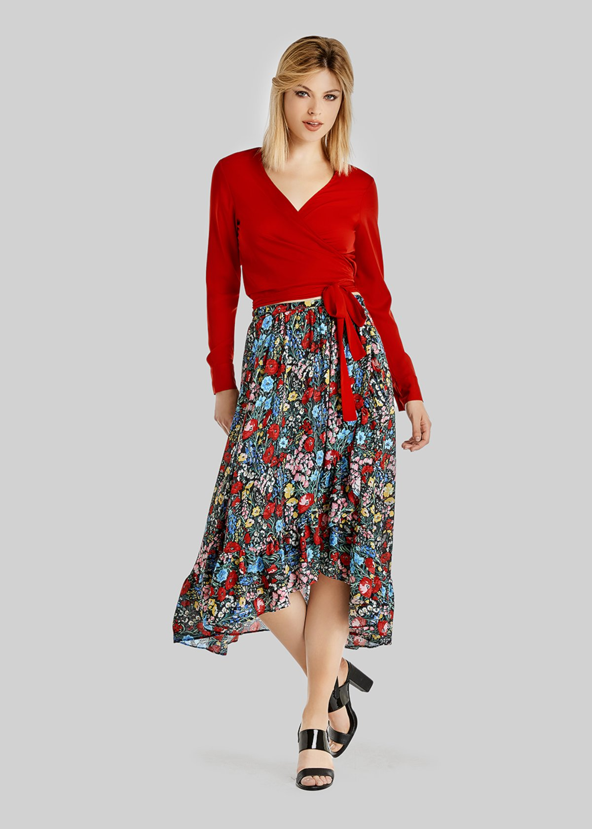 Gennifer long wrap skirt