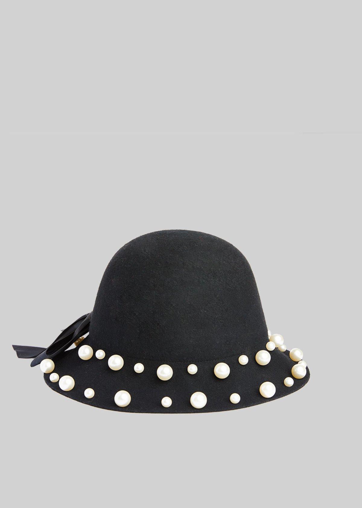 Cappello Cool in lana con dettaglio perle - Black - Donna - Immagine  categoria 052e26359e76