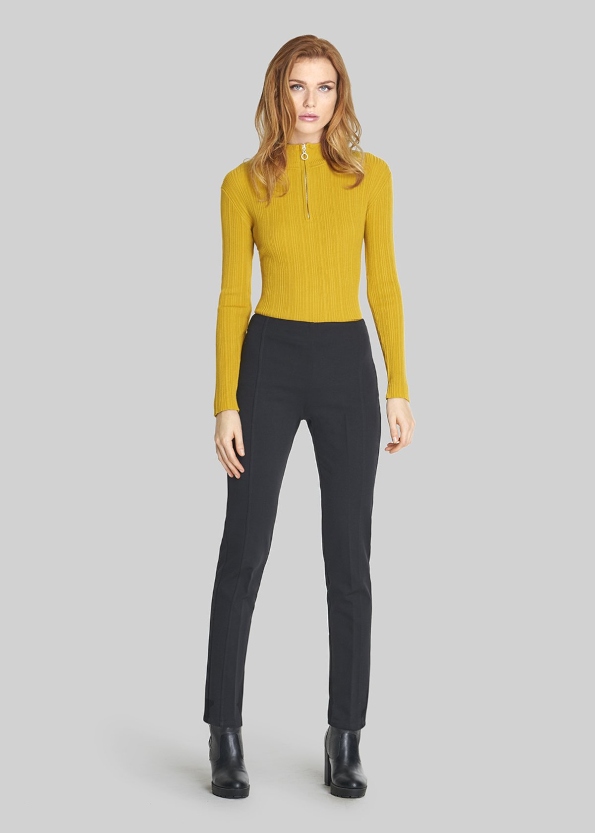 Scherma jeggings trousers carrè straight cut