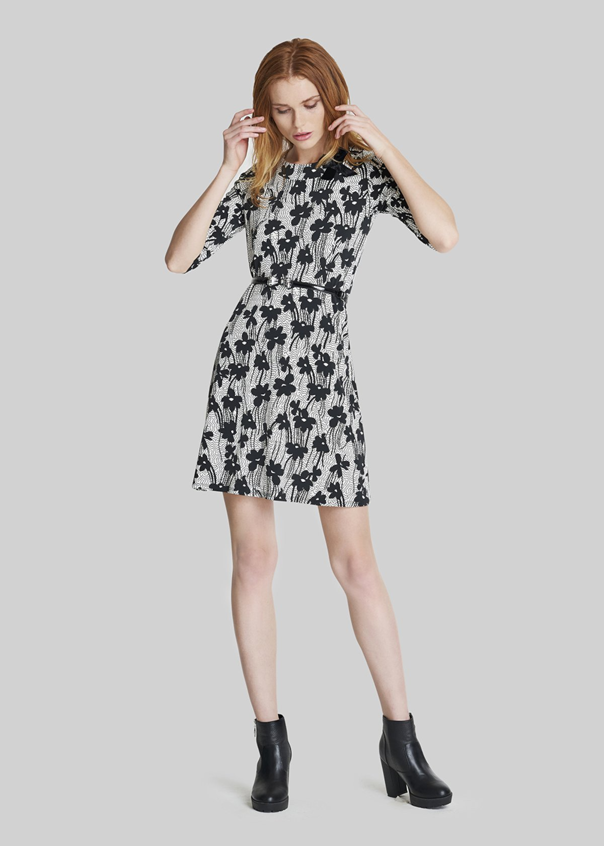 Athos dress alice flowers fantasy with bow - Black White Fantasia - Woman - Category image