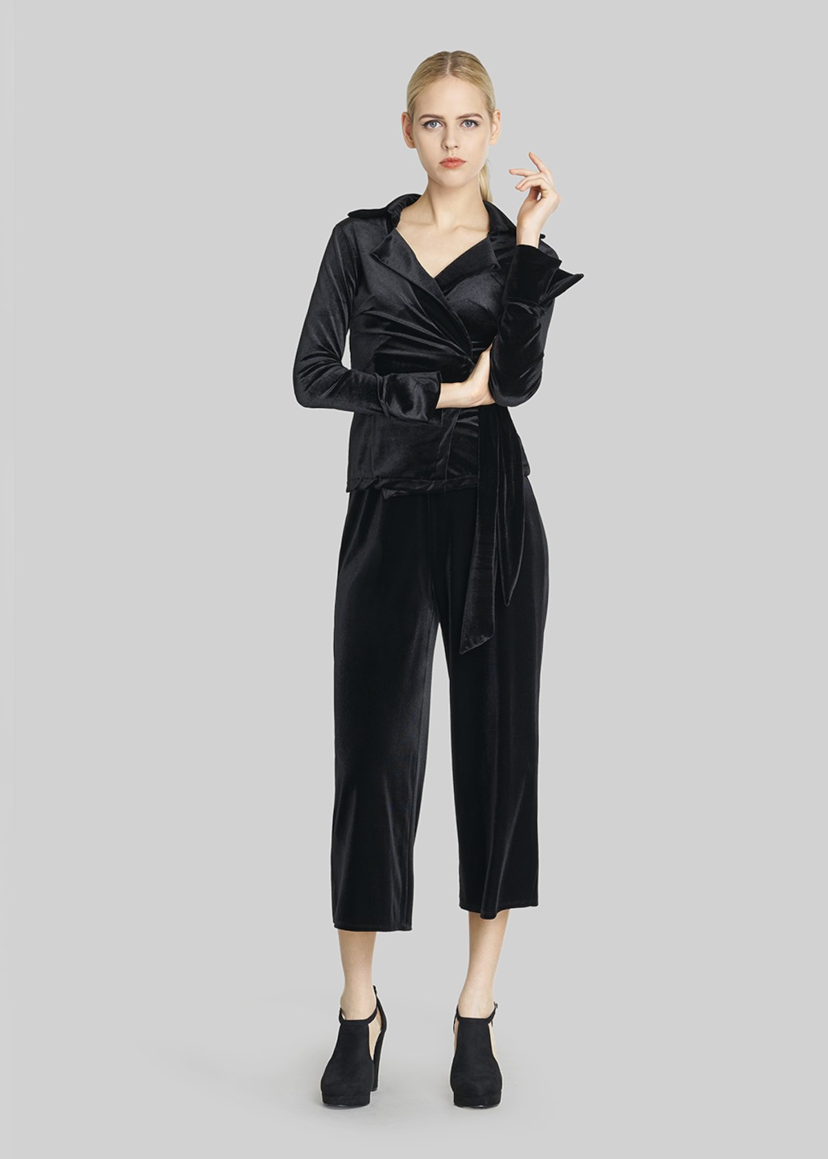 Pico 5 Short palazzo velvet trousers - Black - Woman - Category image