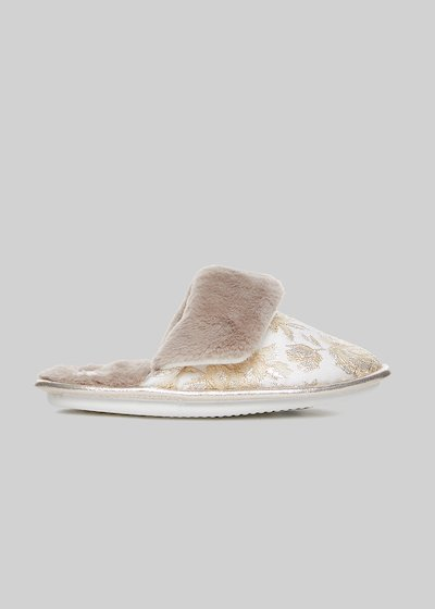 Paolina slippers with jacquard lurex detail