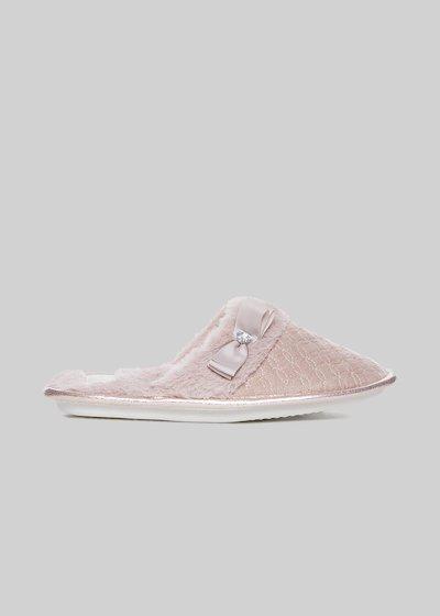 Pantofole Pleos  con dettaglio fiocco