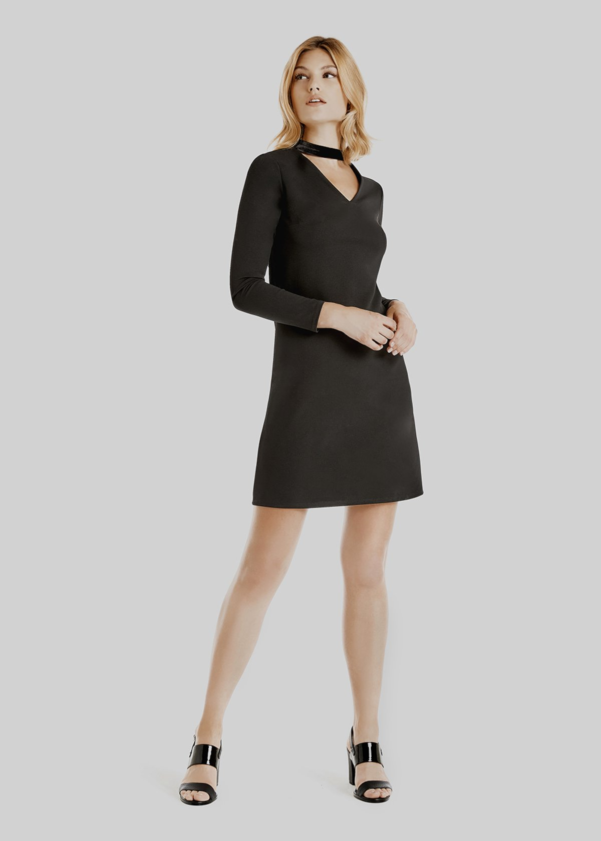 Adam V neck long sleeved dress