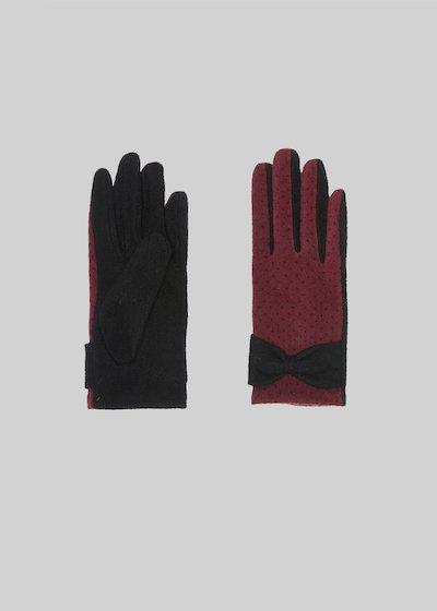 Gioele gloves with polka dot print