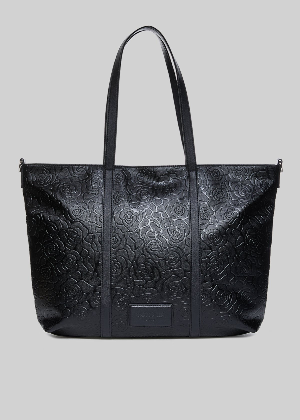 Beyond shopping bag with embossed roses