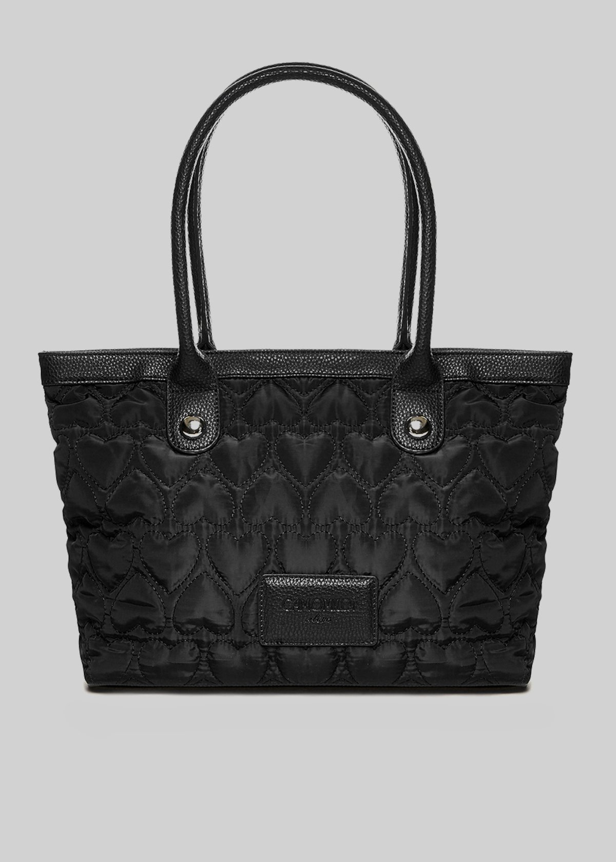 Shopping bag Blerry con manici  in ecopelle