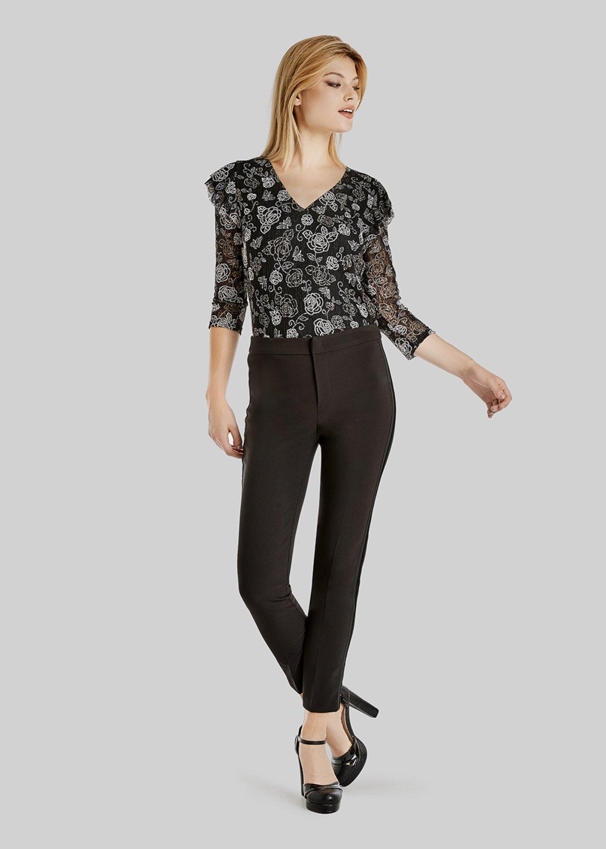 Technical fabric Paris trousers - Black