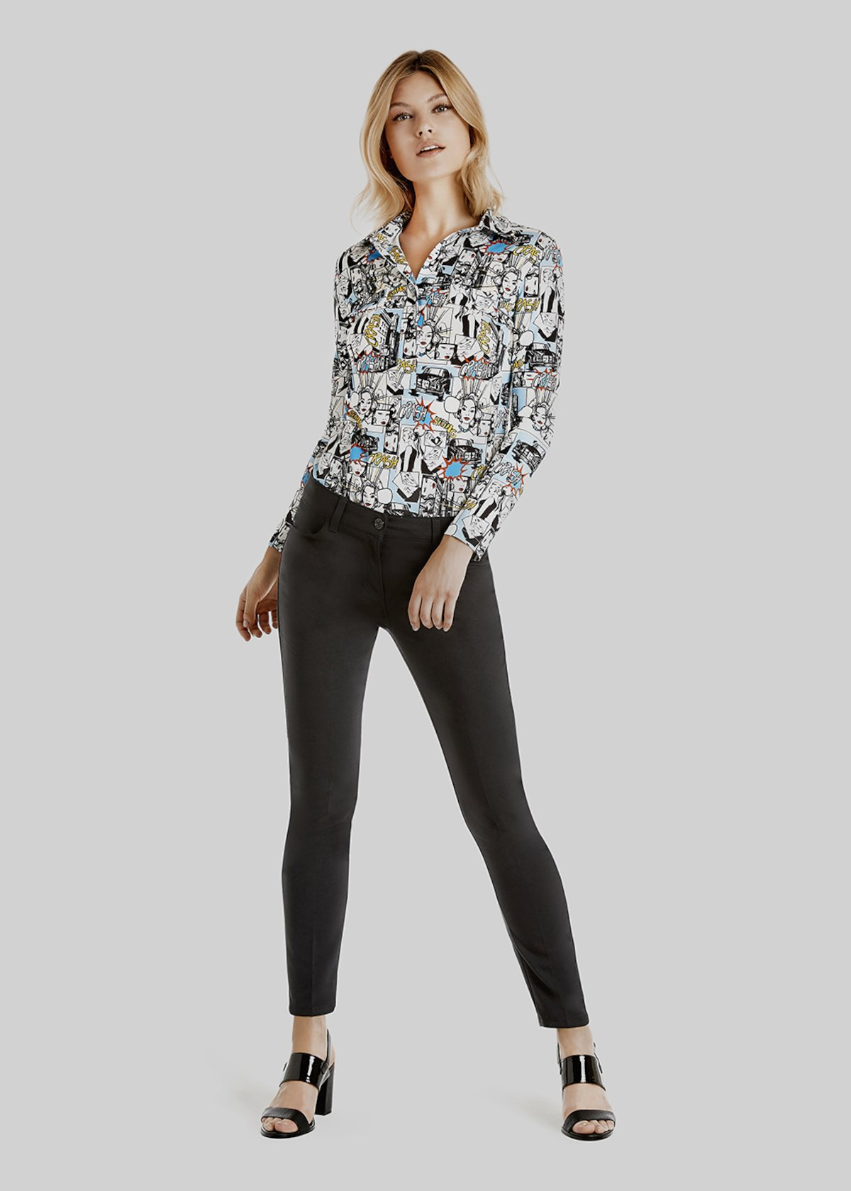 Soledad long sleeve jersey t-shirt - Black White Fantasia