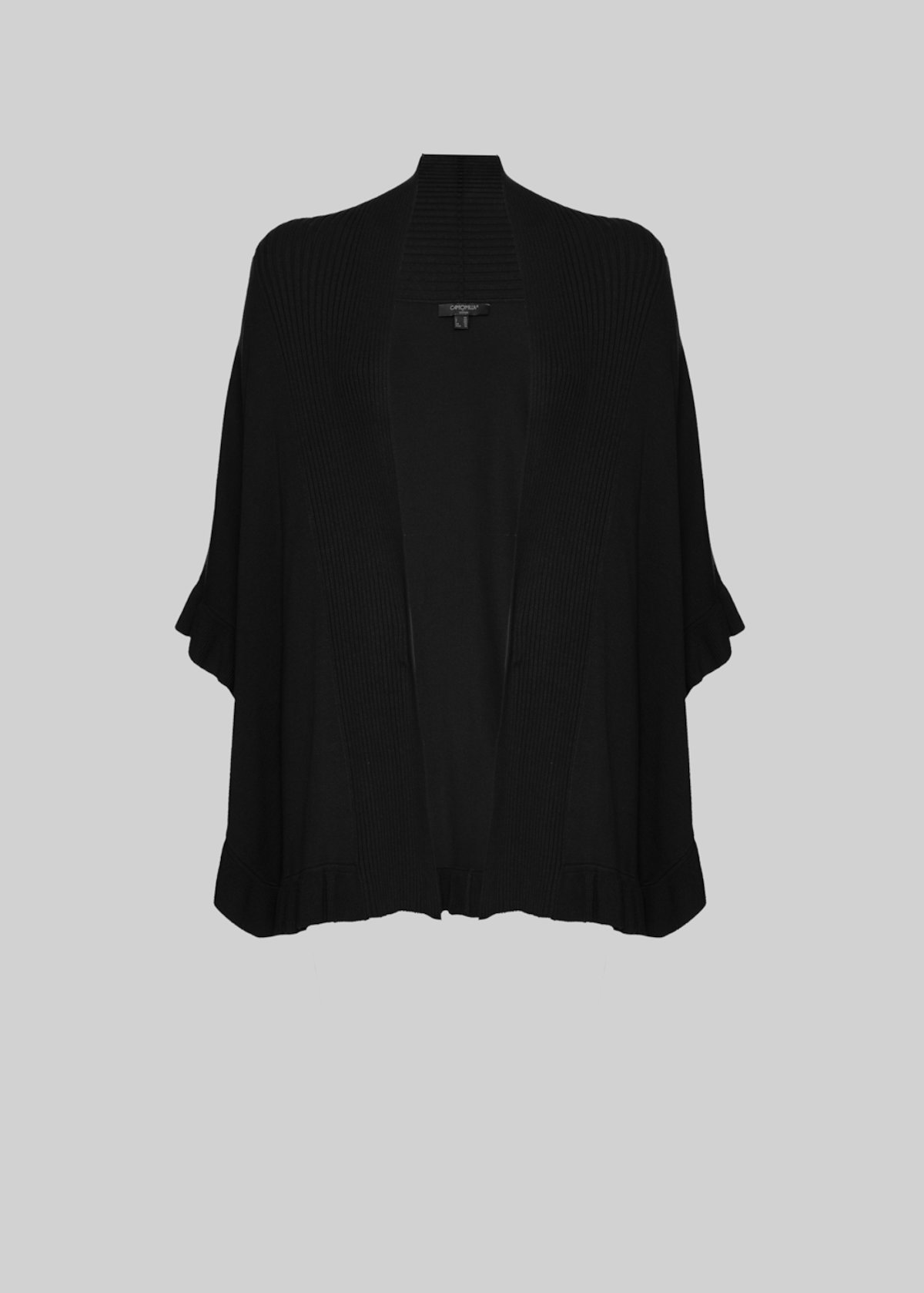 Cam cardigan with ruffles - Black - Woman - Category image