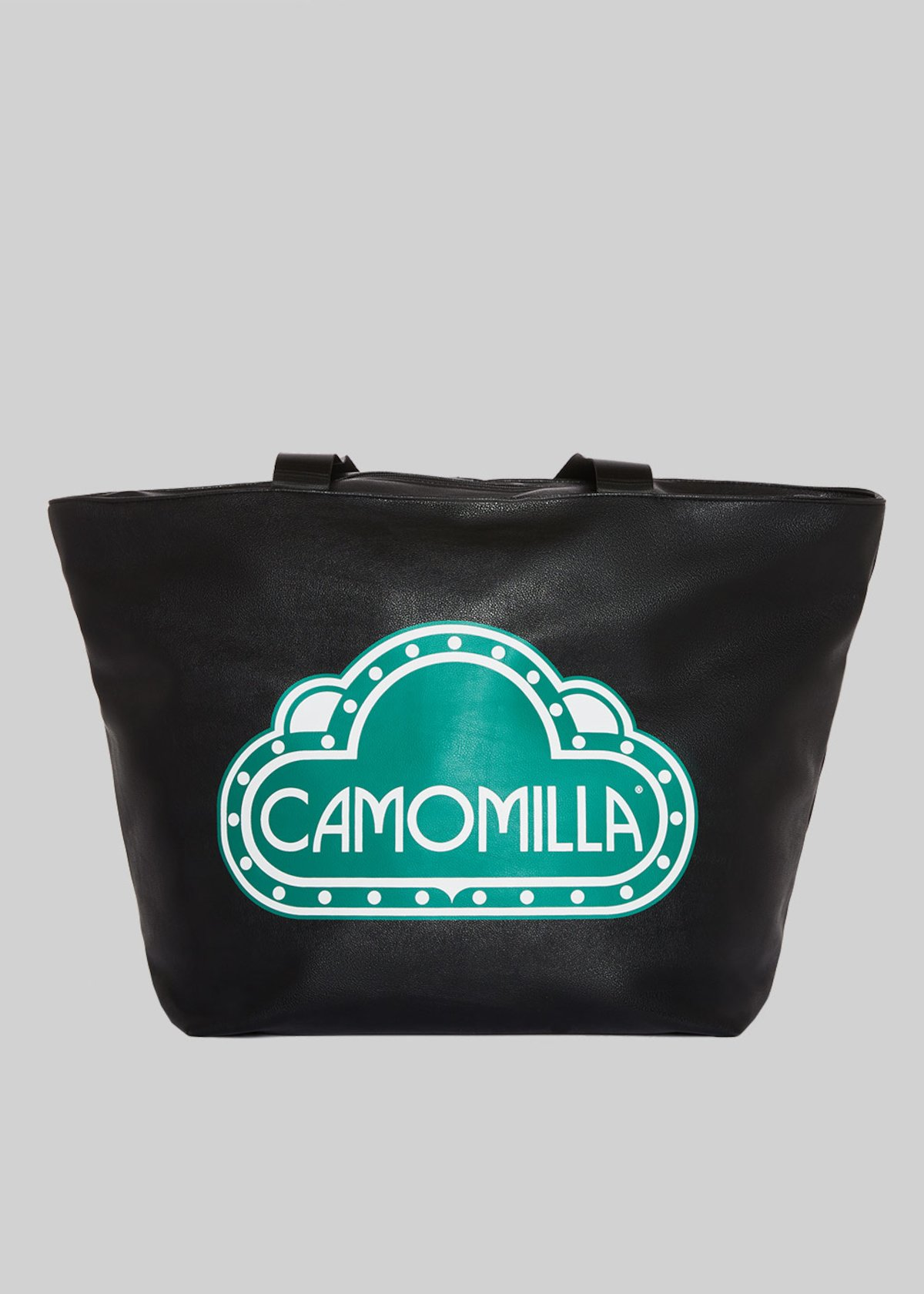 Faux leather Blody Bag with Camomilla logo - Black