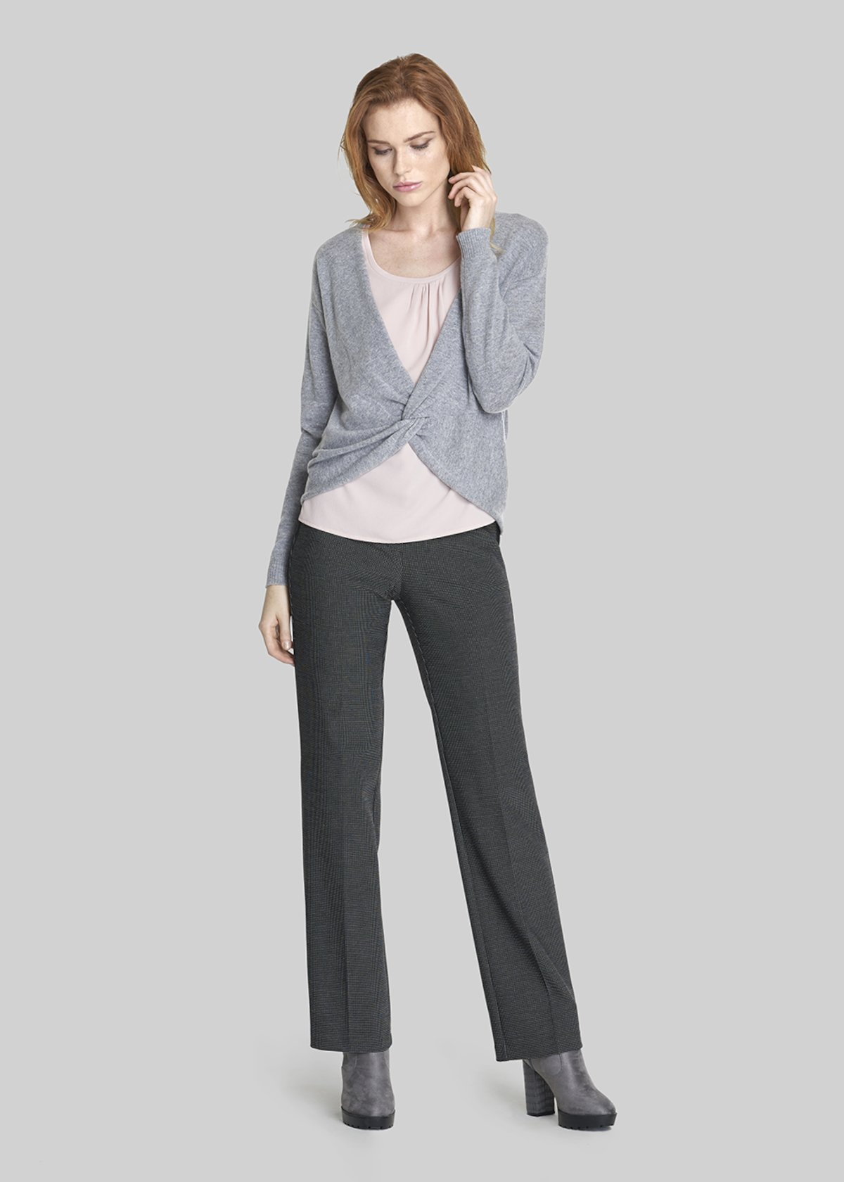 Pollon trousers with straight leg and satin edge