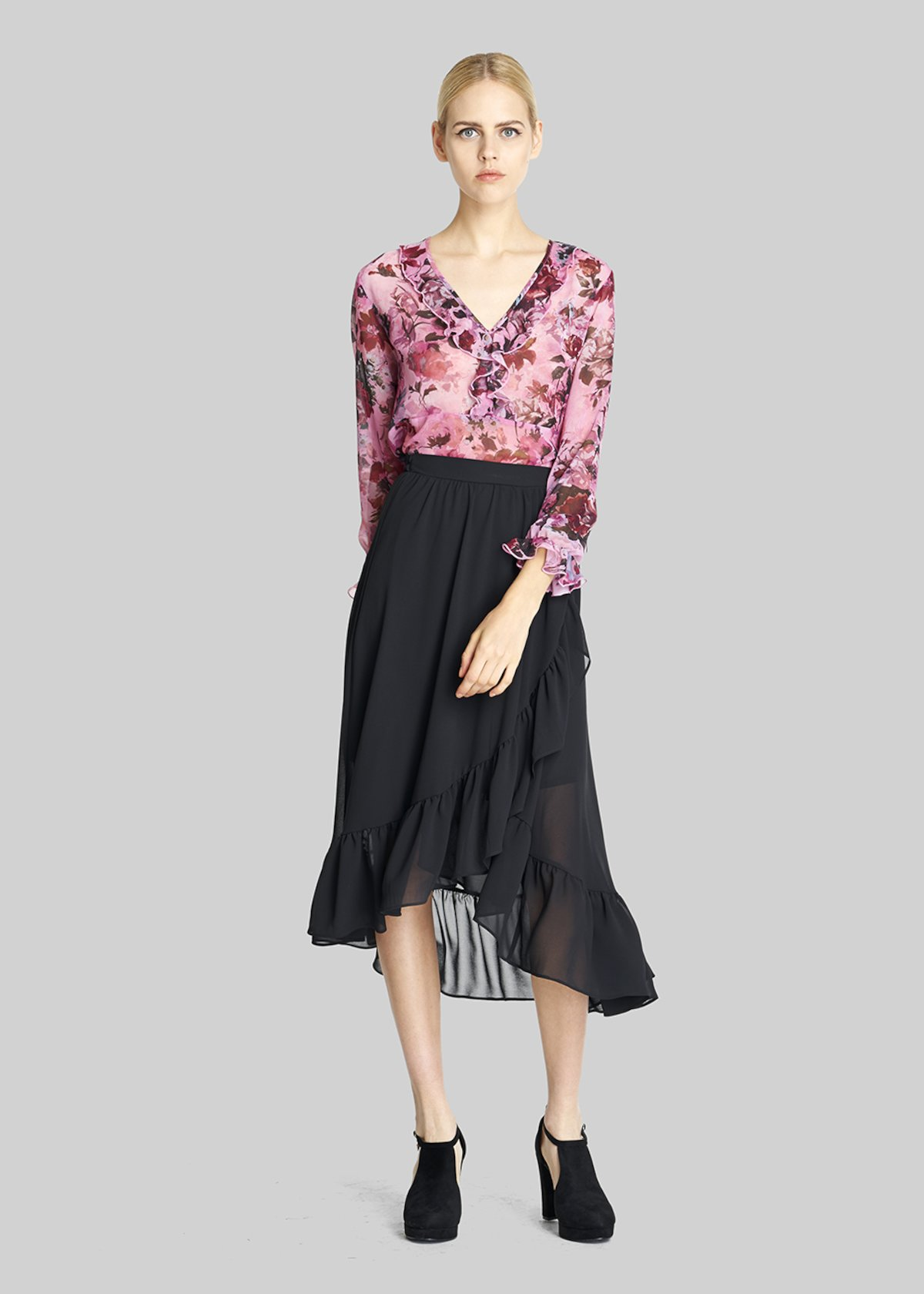 Geremy skirt with ruffles detail