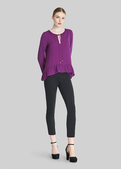 Sade drop-neck blouse