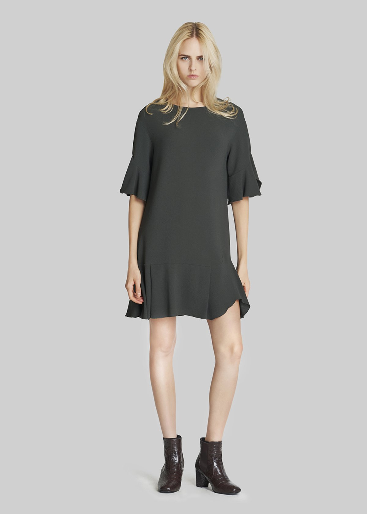 Ashley dress with frill detail