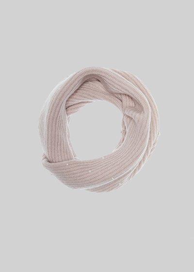Collo Scil in maglia con perline