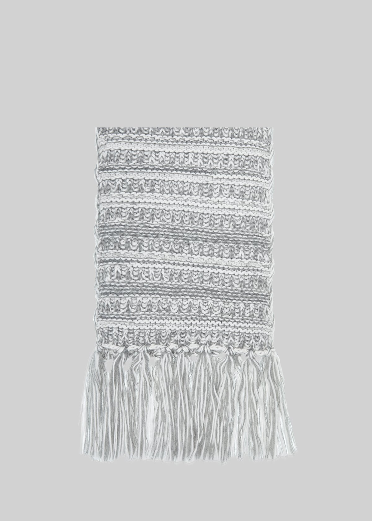 Shayne scarf with fringes detail at the bottom