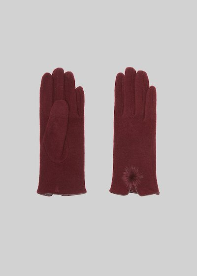 Gioia gloves with fur pon pon