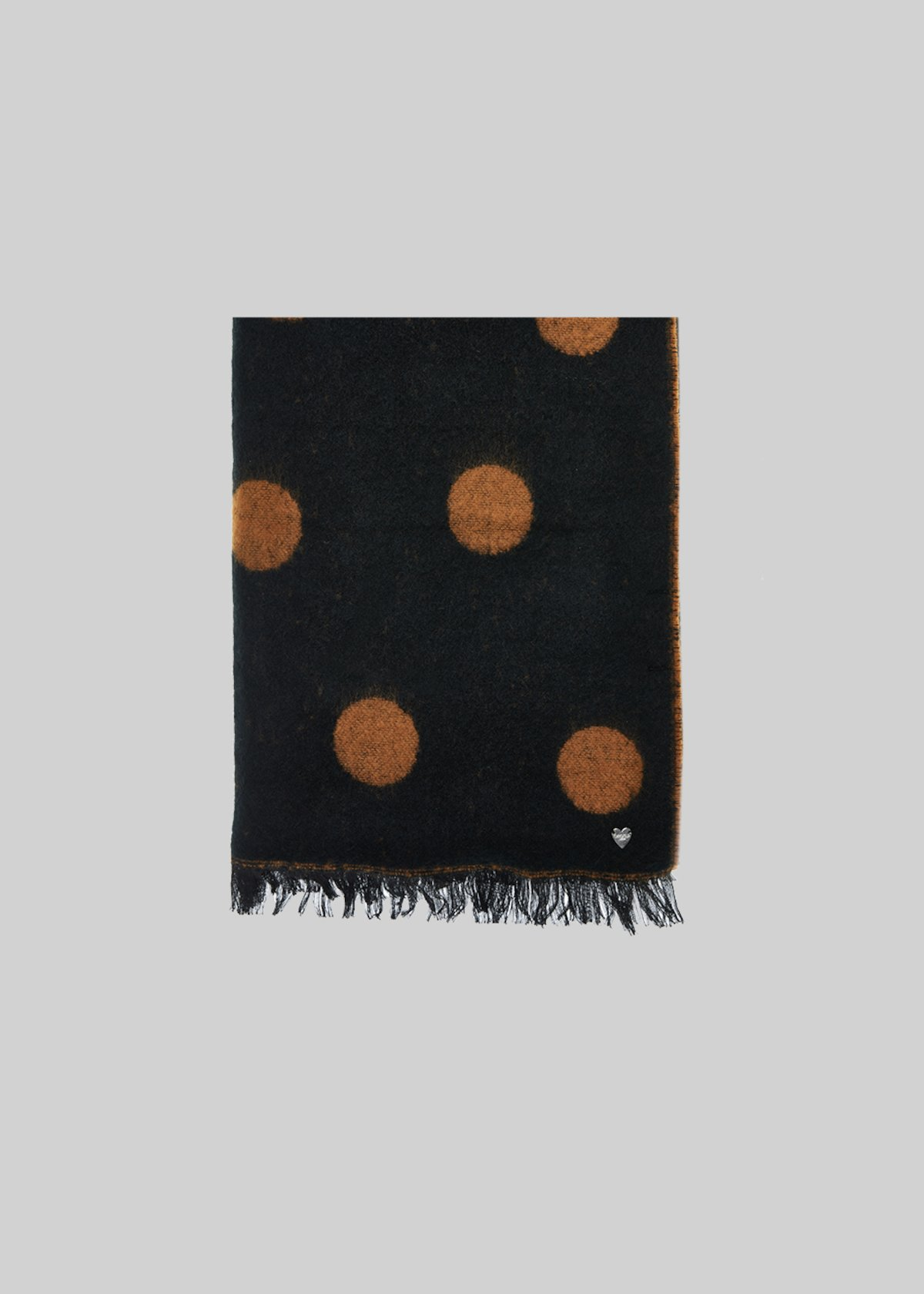 Saul scarf with macro polka dots