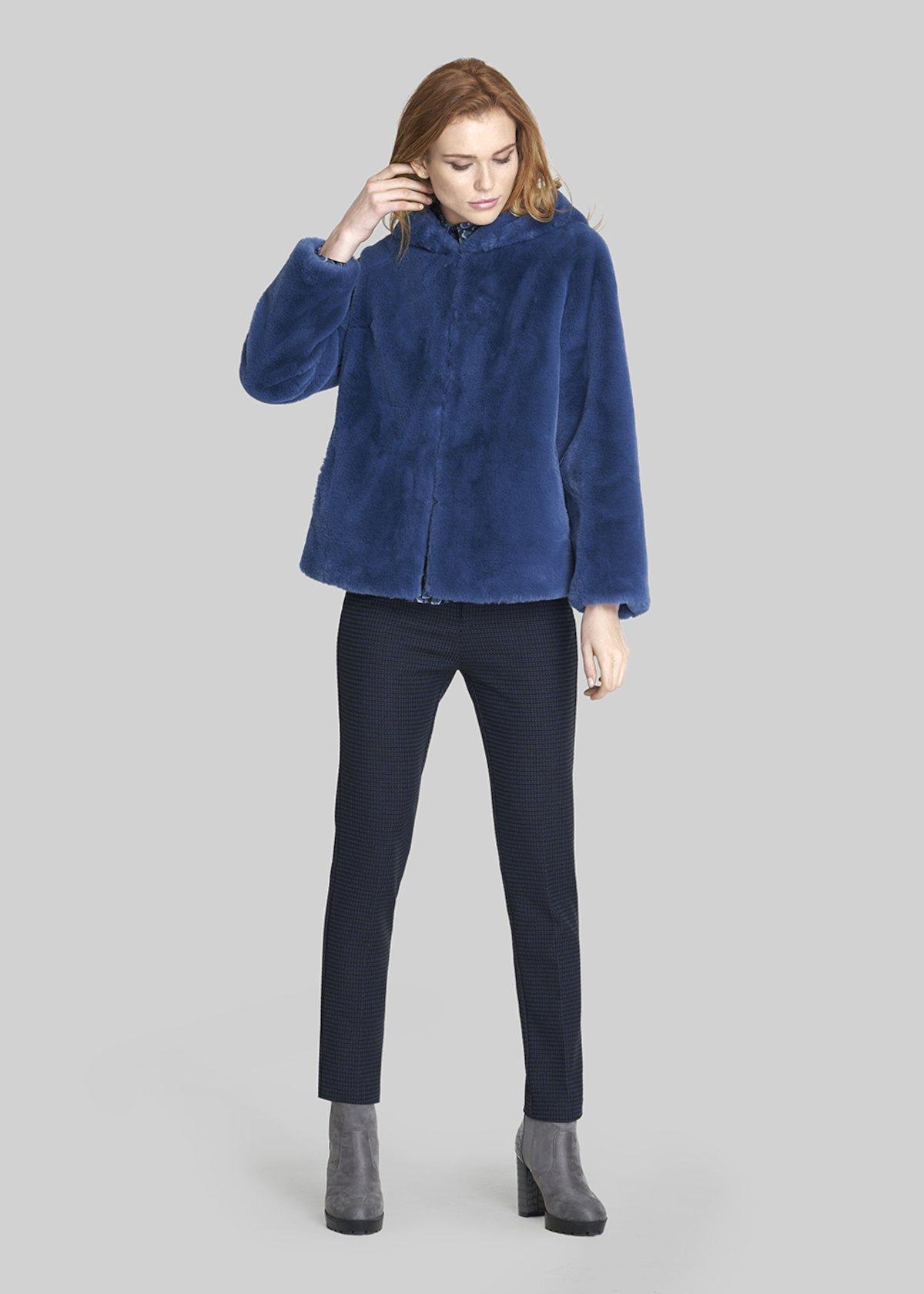 Pablo trousers Kate model - Black / Blue Fantasia