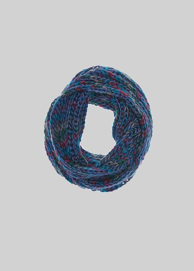 Sayd infinity scarf with multicoloured knitted fabric