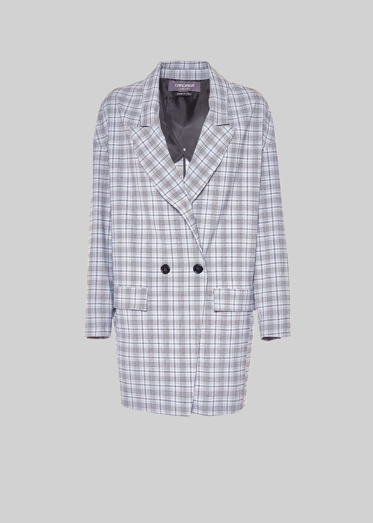 Gady jacket with check pattern - White / Black Fantasia