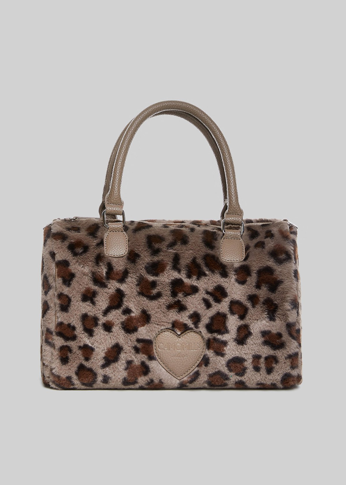 Bissy bag in faux fur with animalier design
