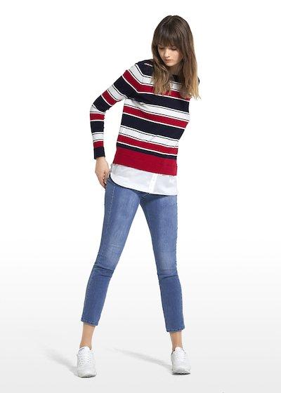 Jeans Davis a gamba slim con salpa personalizzata