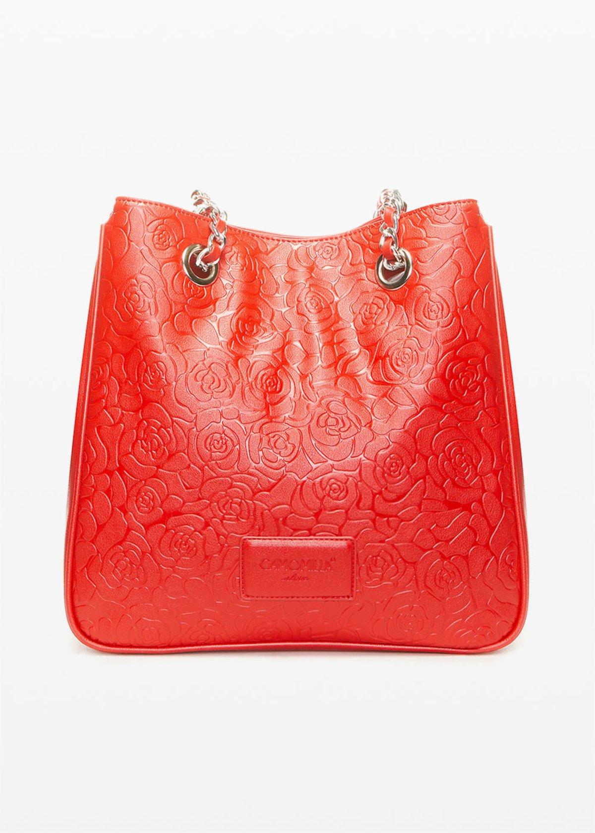 Brandy6- faux leather shopping bag flower fantasy - Tulipano - Woman