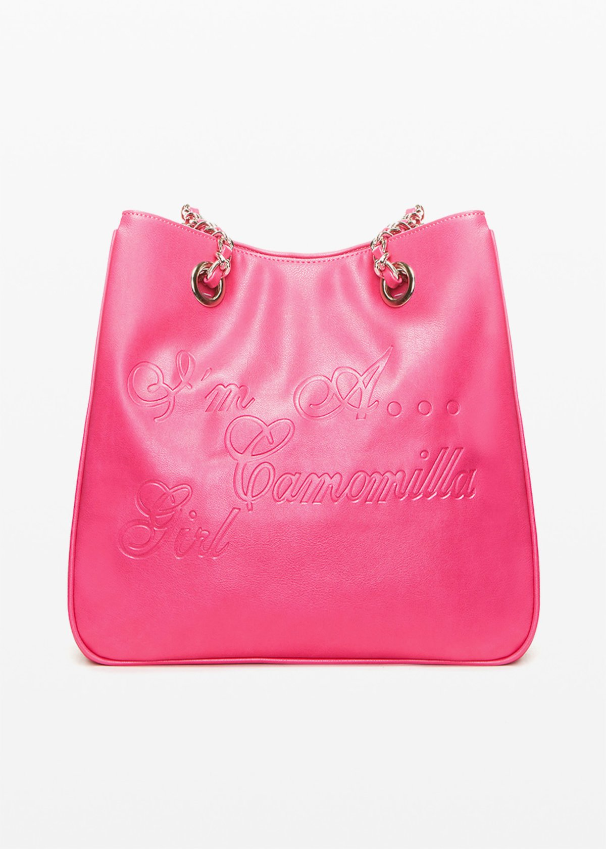 Shopping bag Minicamog in ecopelle con logo embossed