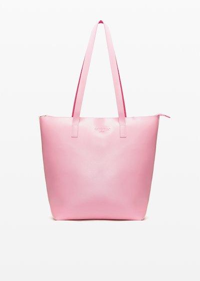 Faux leather Bilia6 shopping bag unlined double colour